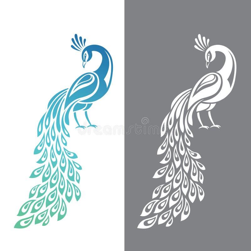 Pavão ilustração royalty free
