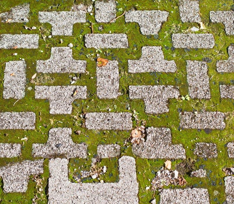 Pavés et herbe photo libre de droits