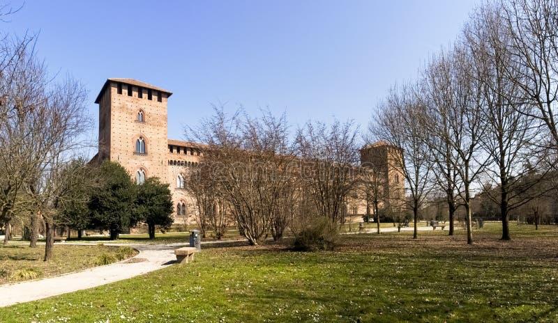 pavía Castillo de Visconti fotos de archivo