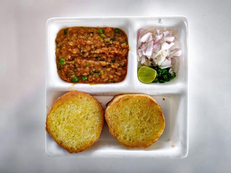 Pav Bhaji Indisk maträtt curry arkivfoto
