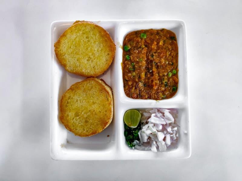 Pav Bhaji Indisk maträtt curry arkivbild