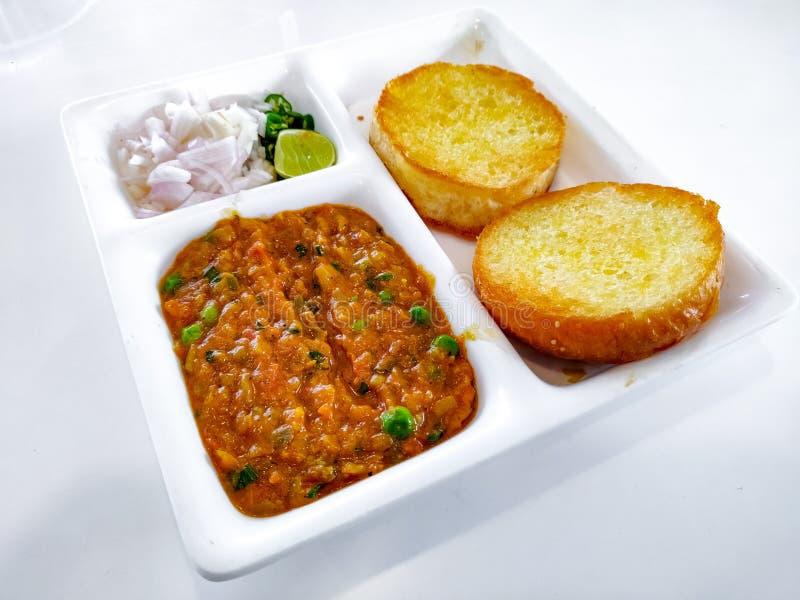 Pav Bhaji Indisk maträtt curry fotografering för bildbyråer