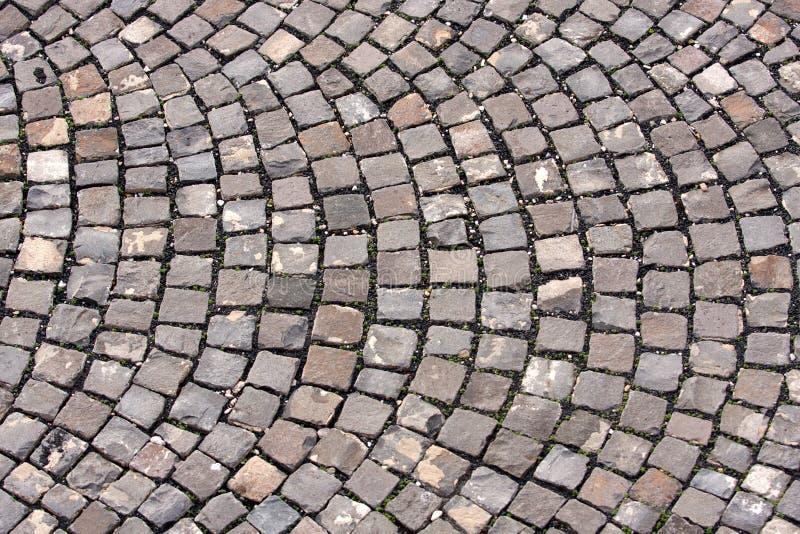 Pavage en pierre de bloc image stock