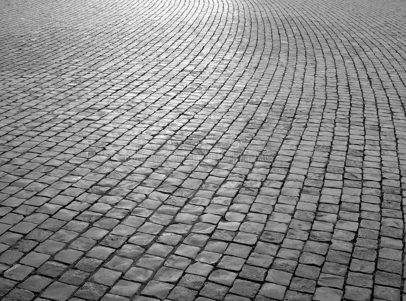 Pavage pavé en cailloutis photos stock