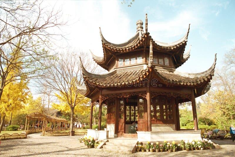 A pavalion in Zhuozheng Yuan Garden stock photography