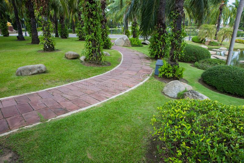 Download Pave Clay Tiled Walkway. Stock Photo. Image Of Walkway   107364628