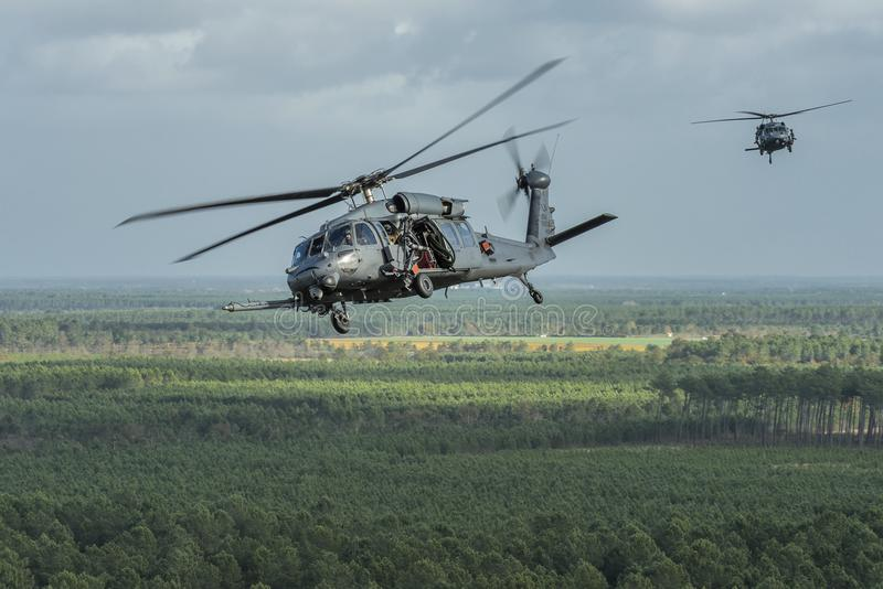 Pave Hawk on approach stock image