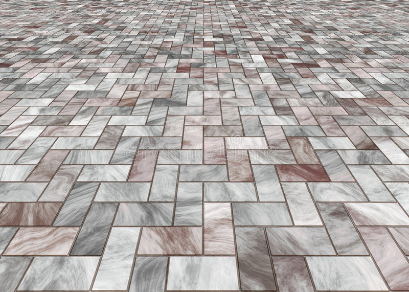 Paved marble floor tiles royalty free stock image