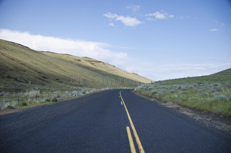 Paved Rural Road Royalty Free Stock Photos