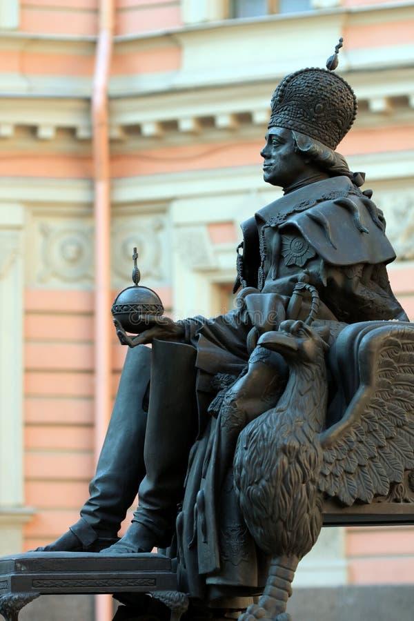 Download Pavel Aan De Eerste. St. - Petersburg Stock Afbeelding - Afbeelding bestaande uit petersburg, keizer: 10781881