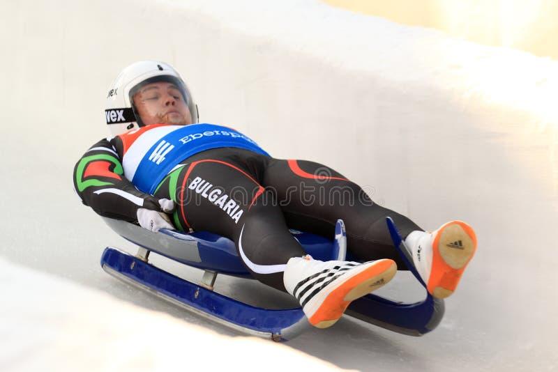 Pavel Angelov - санный спорт стоковые фотографии rf
