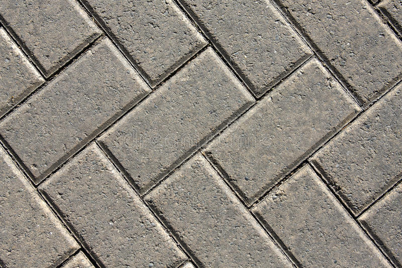 Pavement. Close up of a brick uniformed patterned pavement stock photography