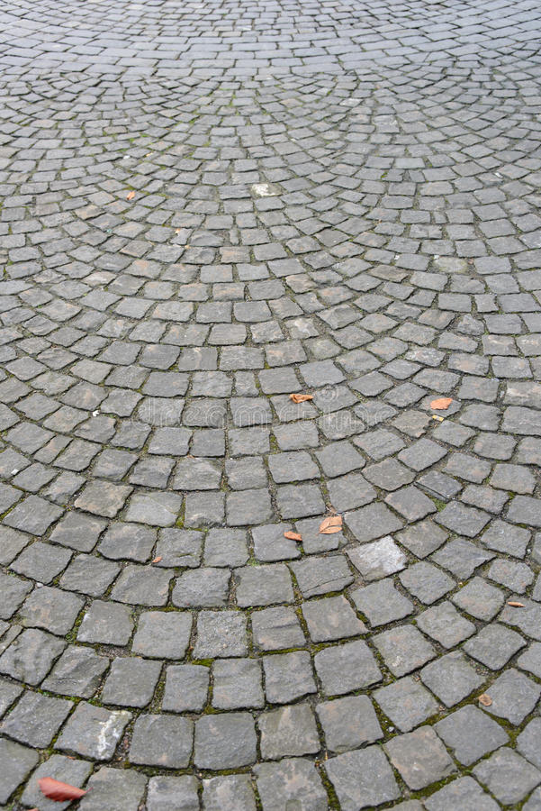 Download Pavement Of Granite With Fish Scale Pattern Stock Photo