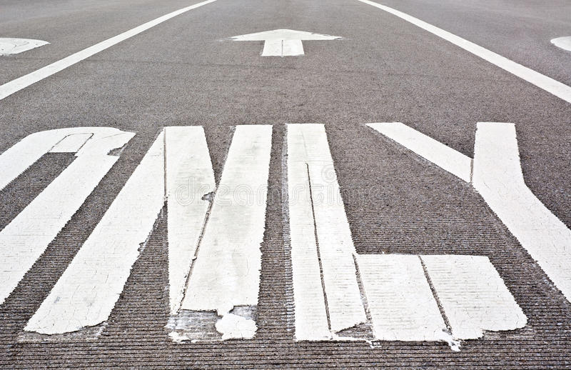 Download Pavement markings stock photo. Image of concrete, dirty - 12070482