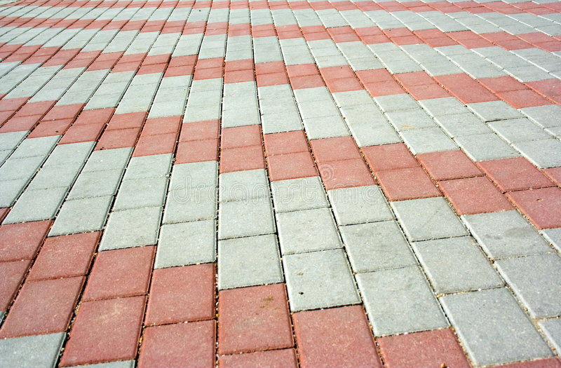 Pavement with pattern