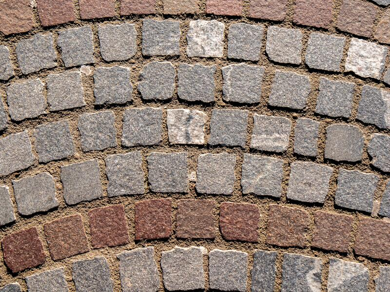 Pavement pattern road sidewalk paving texture surface floor urban cobblestone old block cobble rough paved square abstract rock stock image