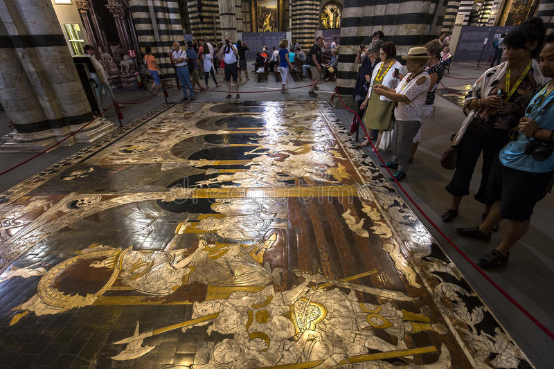 Download The Pavement Of Siena Cathedral, Siena, Italy Editorial Stock Image - Image of barroco, maria: 83708714