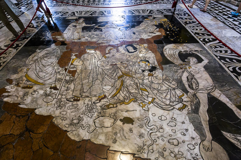 Download The Pavement Of Siena Cathedral, Siena, Italy Editorial Image - Image: 83709270