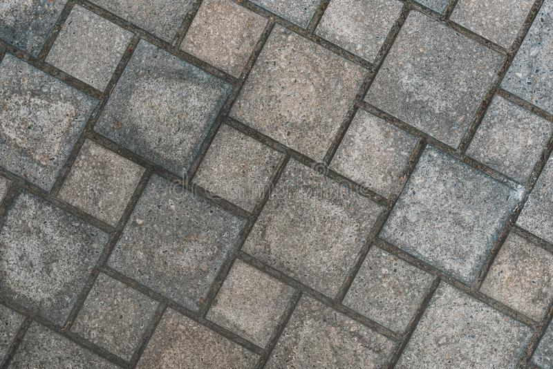 Pavement top view as background stock images
