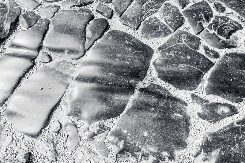 Pavement under the Arco dei Gavi showing the ruts worn into the stones. Verona, Italy stock photos