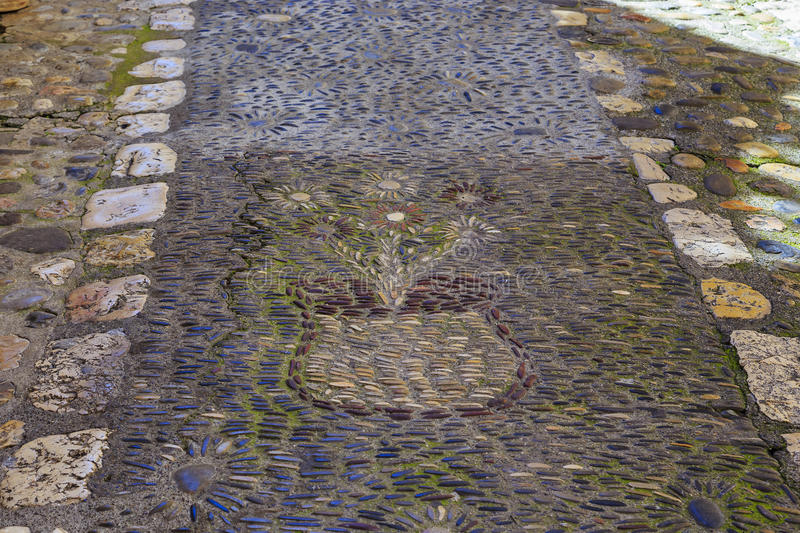 Pavement in a village of Provence. This is one of the architectural details typical of the picturesque villages of the French Provence royalty free stock images
