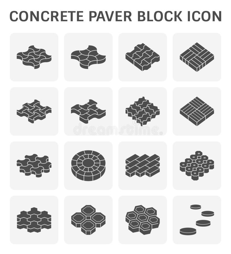 Paver block floor vector illustration