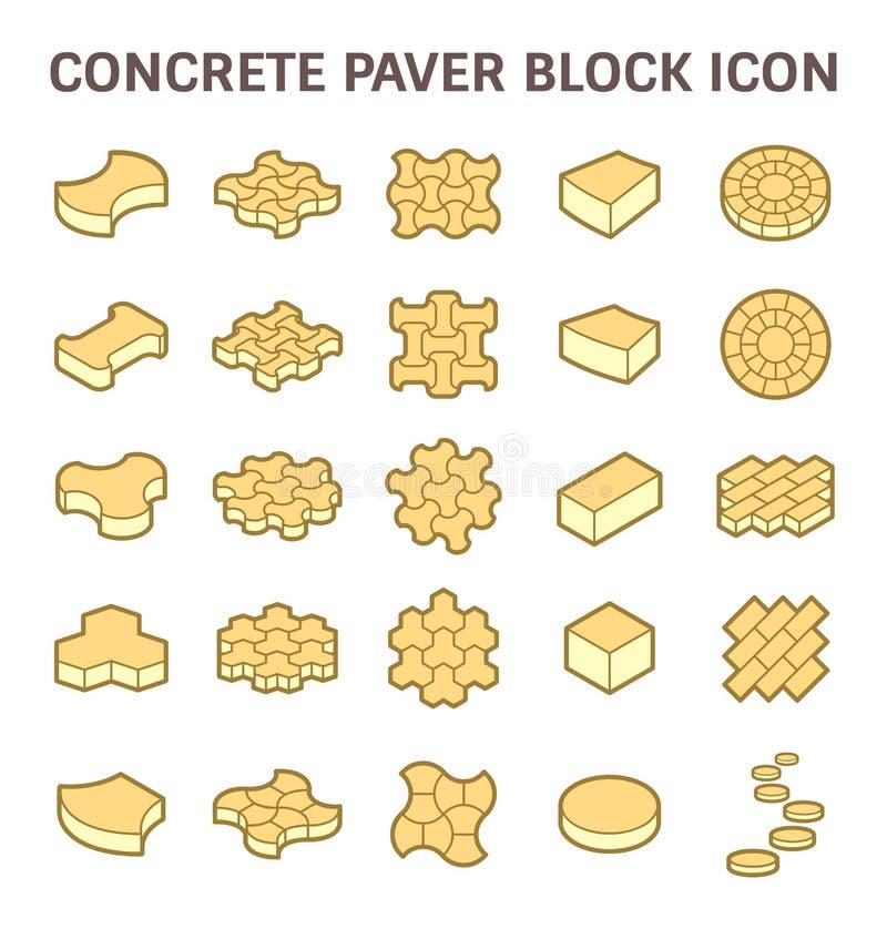 Paver block icon. Concrete paver block or paver brick vector icon set vector illustration