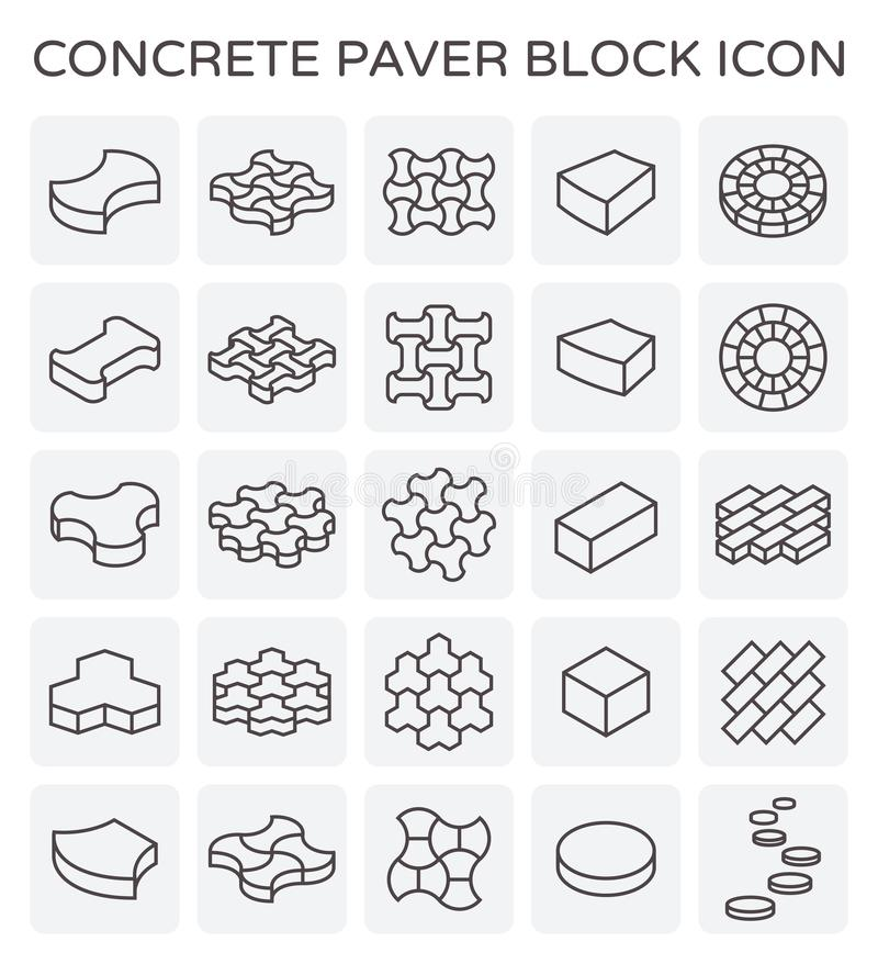 Paver block icon stock illustration