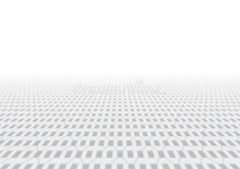 Paver brick vector. Vector of paver brick floor in perspective view for background stock illustration