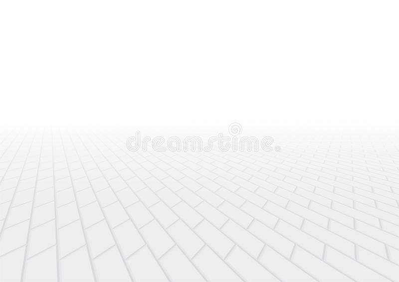 Paver brick vector. Vector of paver brick floor in perspective view for background royalty free illustration