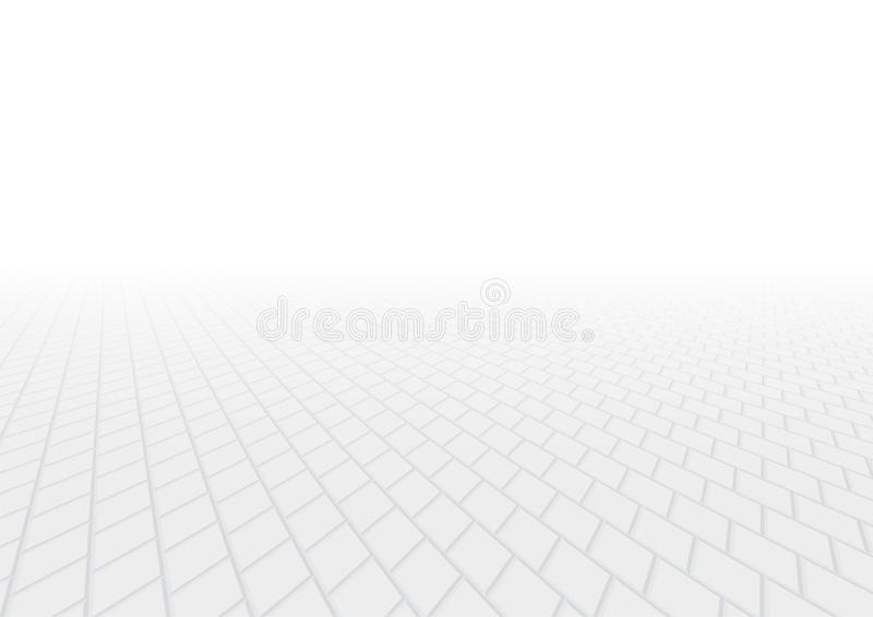 Paver brick vector. Vector of paver brick floor in perspective view for background vector illustration