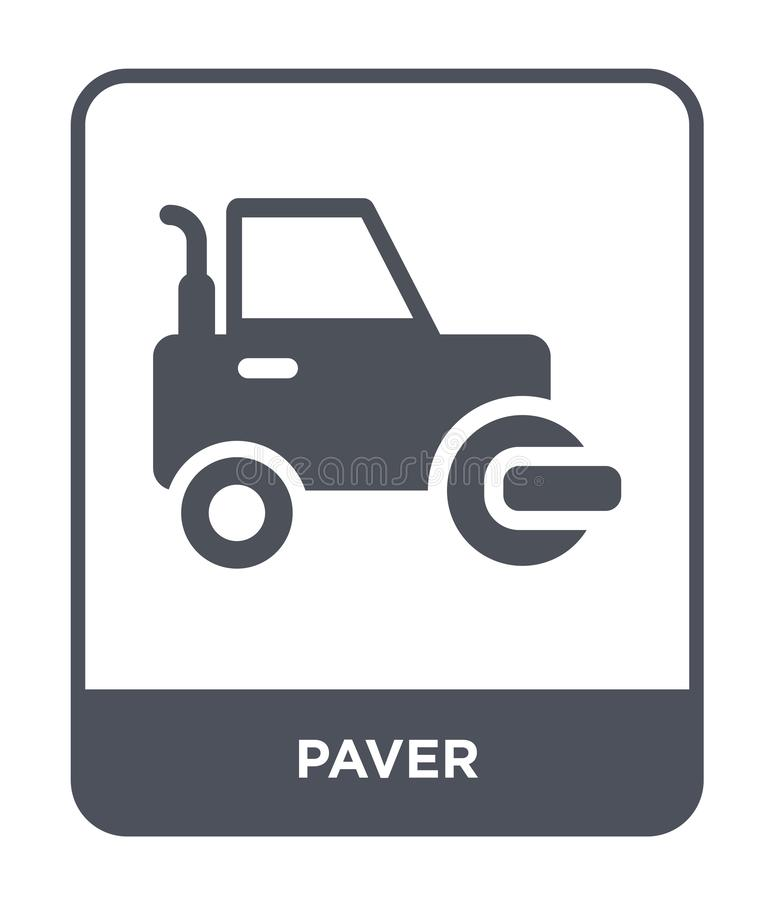 paver icon in trendy design style. paver icon isolated on white background. paver vector icon simple and modern flat symbol for royalty free illustration
