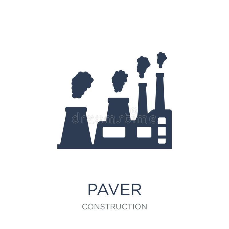 Paver icon. Trendy flat vector Paver icon on white background fr stock illustration