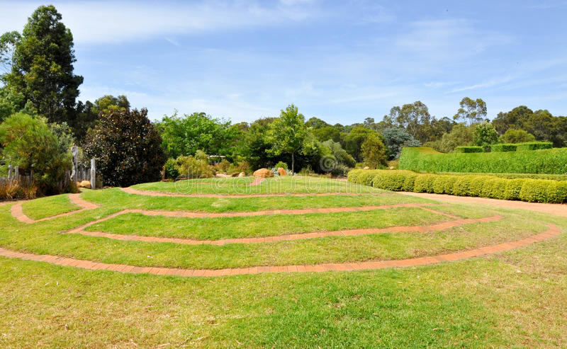 Paver Maze in Botanical Gardens royalty free stock photography