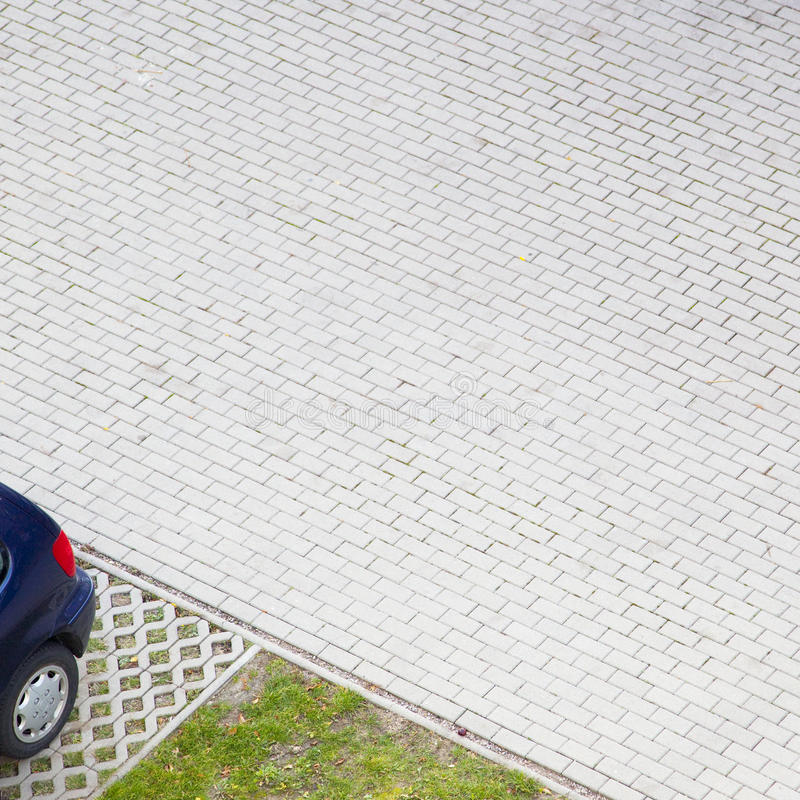 Paver parking lot royalty free stock photography