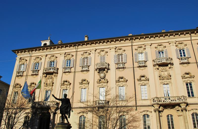 Pavia City Hall Stock Photo