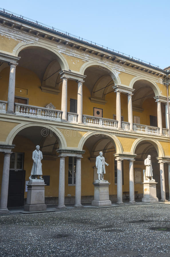 Download Pavia, Court Of The University Stock Image - Image: 38228633