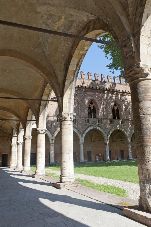 Pavia, het kasteel stock afbeelding