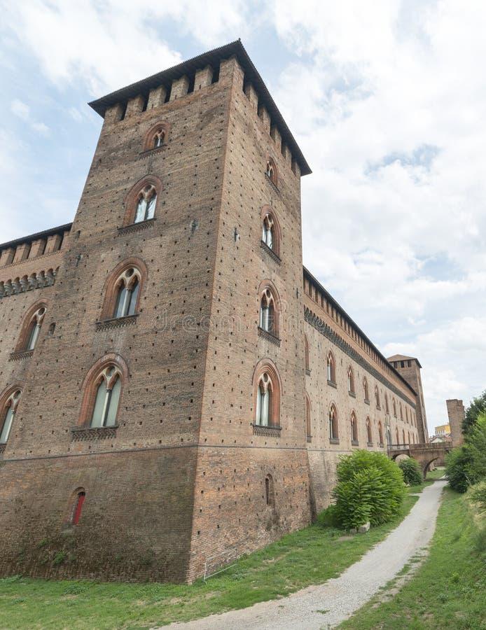 Pavia (Italië): kasteel stock fotografie