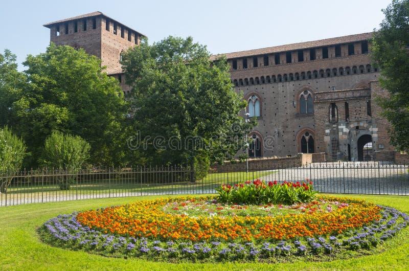 Pavia, kasteel stock afbeeldingen