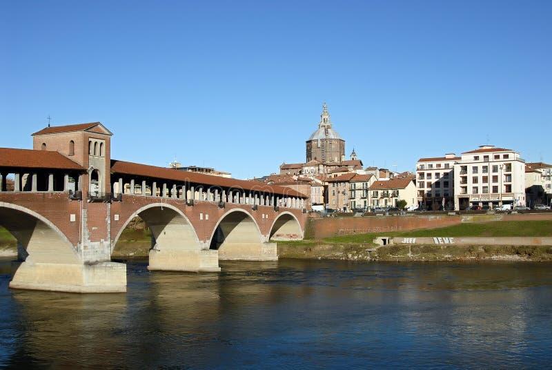 Pavia-Postkarte lizenzfreie stockbilder