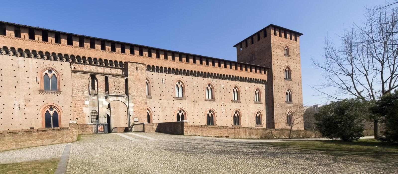 pavia Visconti slott arkivfoton