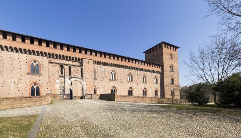 pavia Visconti slott arkivbild