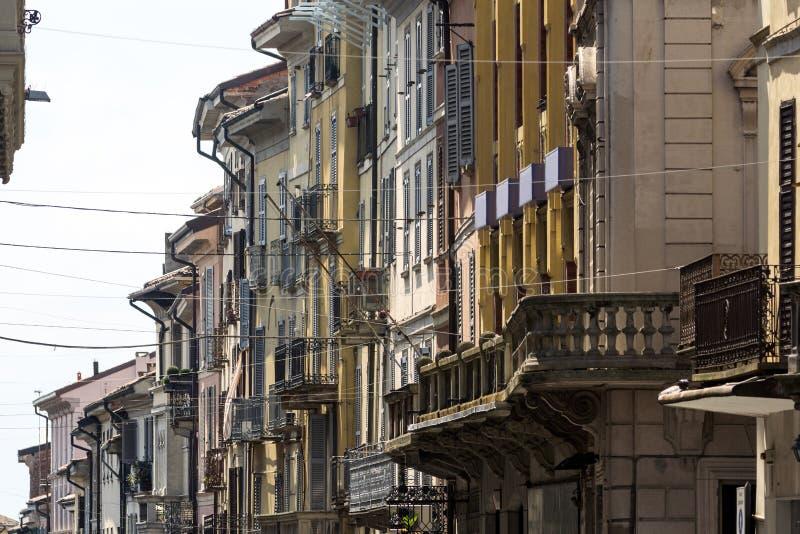 Pavia (Włochy): główna ulica obrazy royalty free