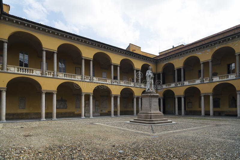Pavia (Włochy): Uniwersytet obrazy stock