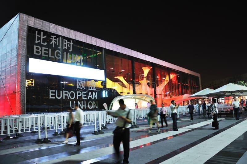 pavilhão 2010 de Bélgica-UE da expo de shanghai fotos de stock