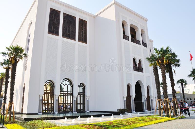 pavilhão 2010 de Marrocos da expo de shanghai imagens de stock