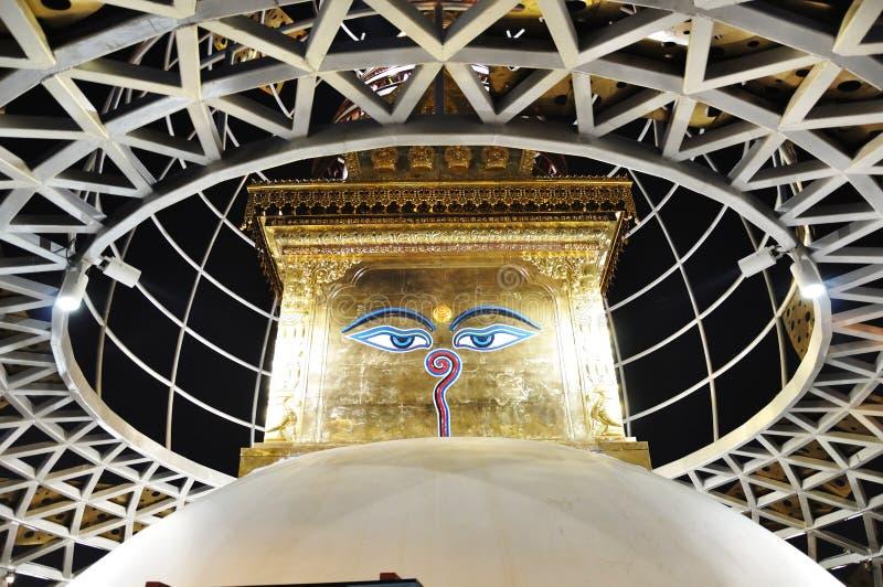 pavilhão 2010 de Nepal da expo de shanghai fotos de stock