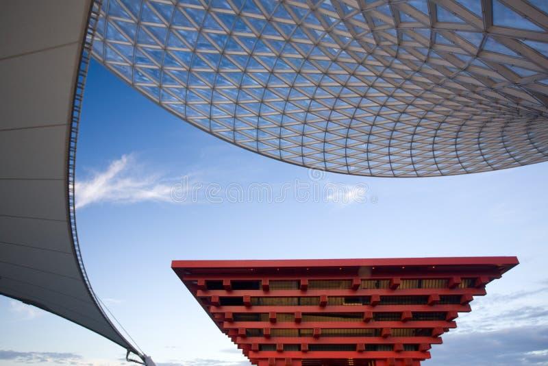 Pavilhão 2010 de Shanghai-China da expo imagem de stock royalty free
