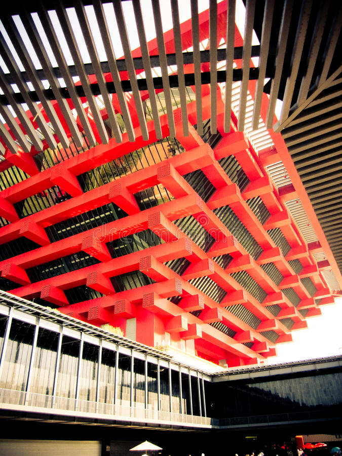 Pavilhão chinês na expo do mundo imagem de stock